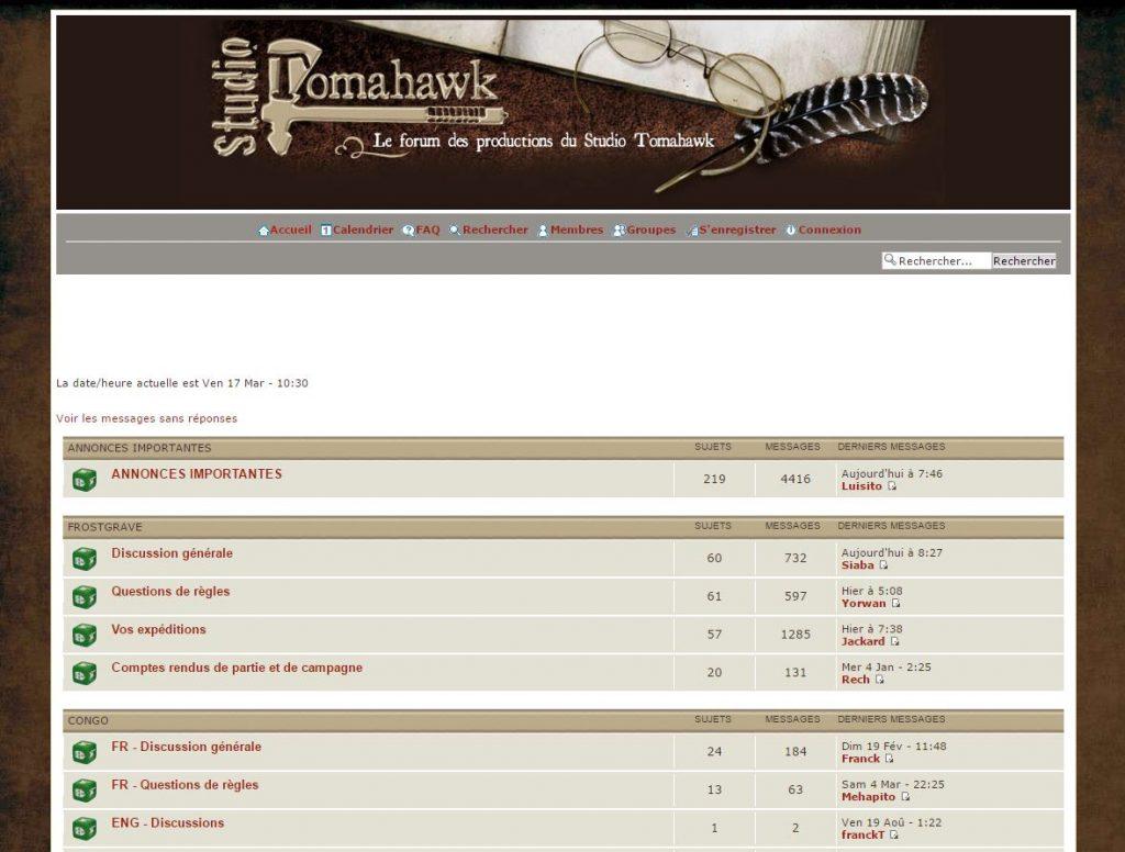 Forum Studio Tomahawk Francais